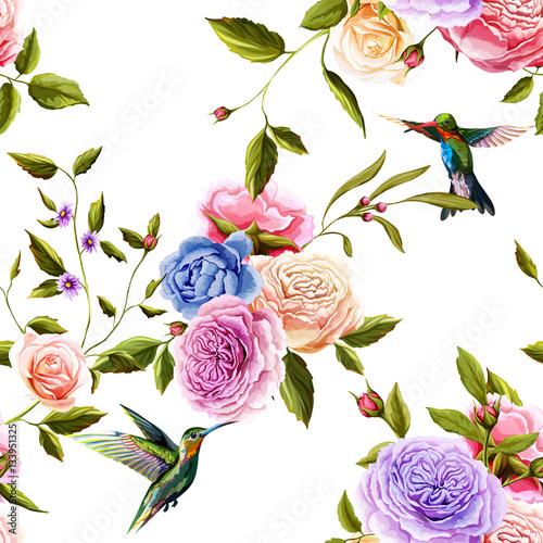 nucic-ptak-roze-peonia-na-bielu-bezszwowe-tlo-wzor-recznie-rysowane-elementy-wektor-czas