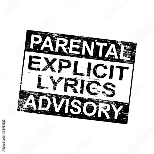 Photo Parental Advisory Stamp