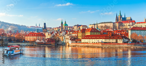 Old town Prague Czech Republic over river Canvas Print