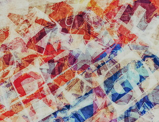 Fototapetagrunge collage of letters background and texture