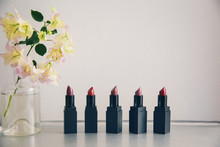 Various Lipsticks Arranged By ...