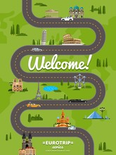 Welcome To Europe Poster With ...