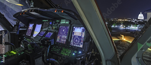 Poster Helicopter Cockpit