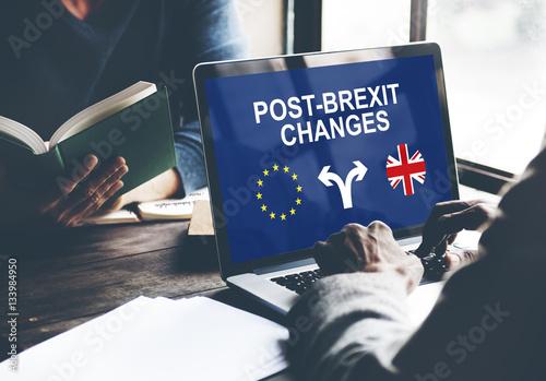 Valokuva Brexit Bremain UK EU Referendum Concept