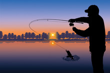 Fishing Vector. Silhouette Of ...