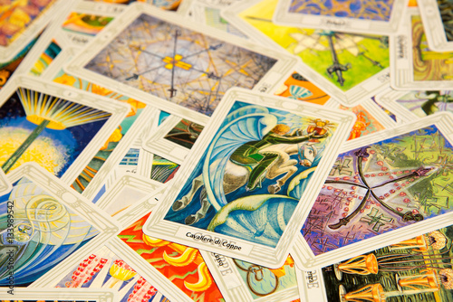 Photo  Tarot card Knight of Cups.