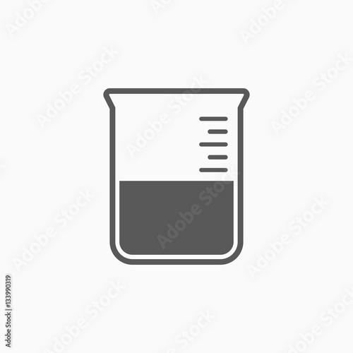 Photo beaker icon
