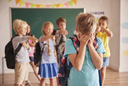 Picture showing children violence  at school Wallpaper Mural