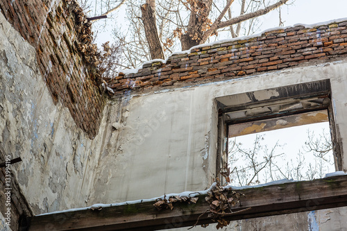 of the destroyed house