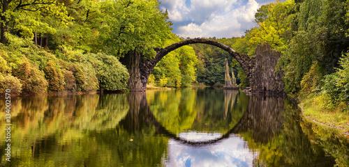 Spoed Fotobehang Bruggen Devil's Bridge,Kromlau,Germany