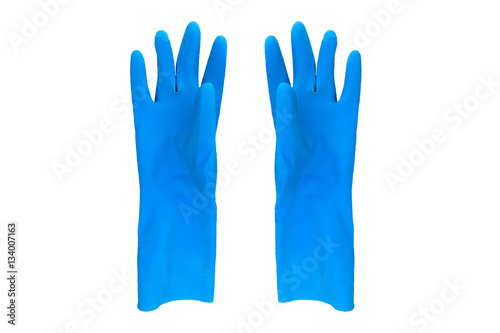 Fotografie, Obraz  gloves rubber color cleaning background isolated objects orangs