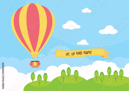 Fotografia Hot air balloon with banner