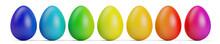 Bunte Reihe Ostereier Zu Ostern