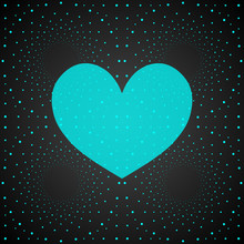 Turquoise Hypnotic Heart.