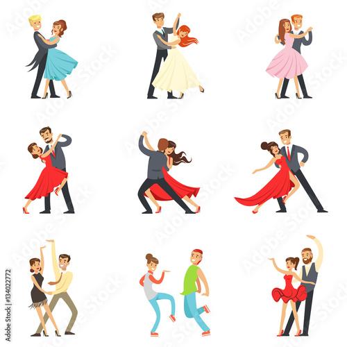 Fotografie, Obraz Professional Dancer Couple Dancing Tango, Waltz And Other Dances On Dancing Cont