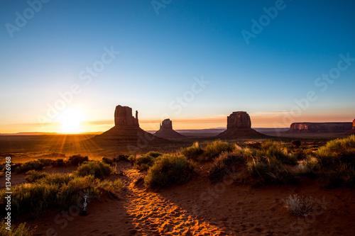 Photo sur Toile Vache USA - Monument Valley