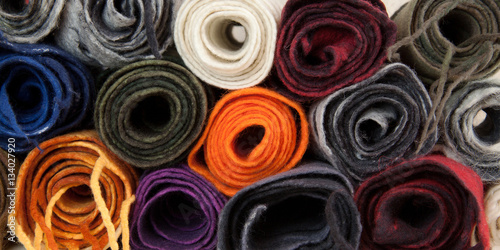 Valokuva  twisted folded woolen scarves
