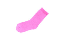 Pink Sock On Isolated