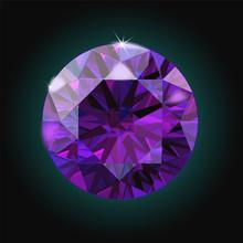 Brilliant Amethyst Purple Crys...