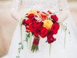 canvas print picture wedding bouquet with red roses