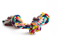 Colorful Cotton Dog Toy On A W...