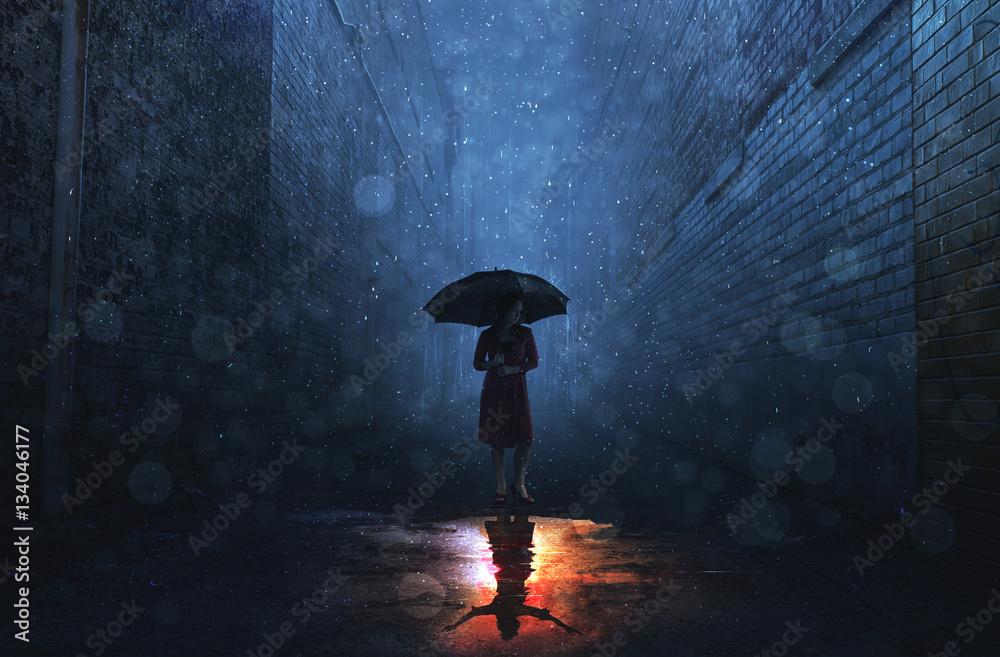Fototapeta Rain and shine