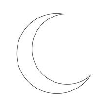 Crescent Moon Silhouette Vecto...
