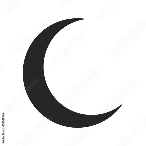 Canvas Print crescent moon silhouette vector symbol icon design.