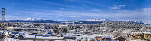 Panoramic of Cascade Mountain Range and Cityscape Canvas Print