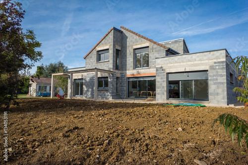 Fotografie, Obraz  chantier d'une maison en construction