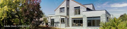 Foto chantier d'une maison en construction