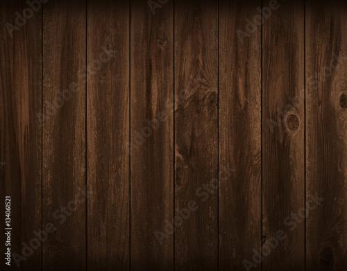 Fotografie, Obraz  Dark flat wood board background. Wall paneling or wooden floor.