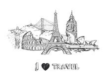 Travel Sketch Poster