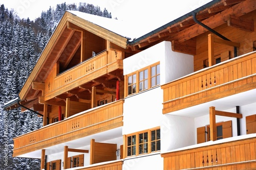 Alter Holzbalkon An Haus Front Altbayerisch Buy This Stock Photo