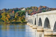 Washington DC In Autumn - Arlington Memorial Bridge