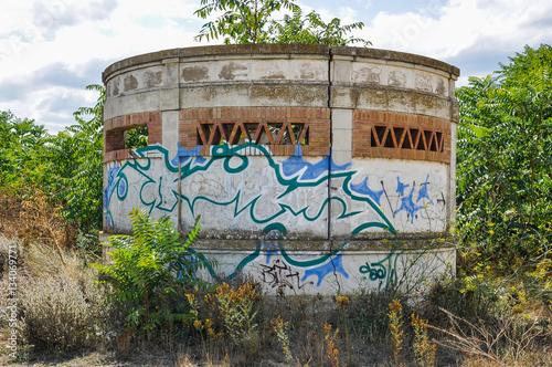 Foto auf AluDibond Bahnhof Abandoned railway stations, Fitero, Navarra, Spain