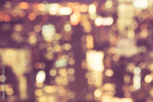 Canvastavla  Defocused abstract blur of city lights at night