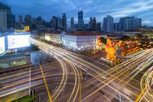 Traffic Light Trails In Singap...
