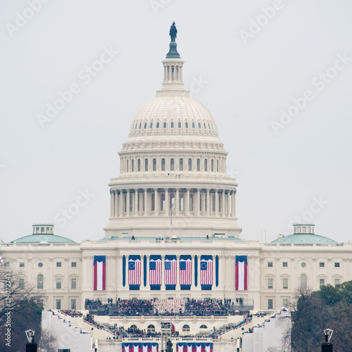 Photo  U.S. Capitol on Inauguration Day 2017