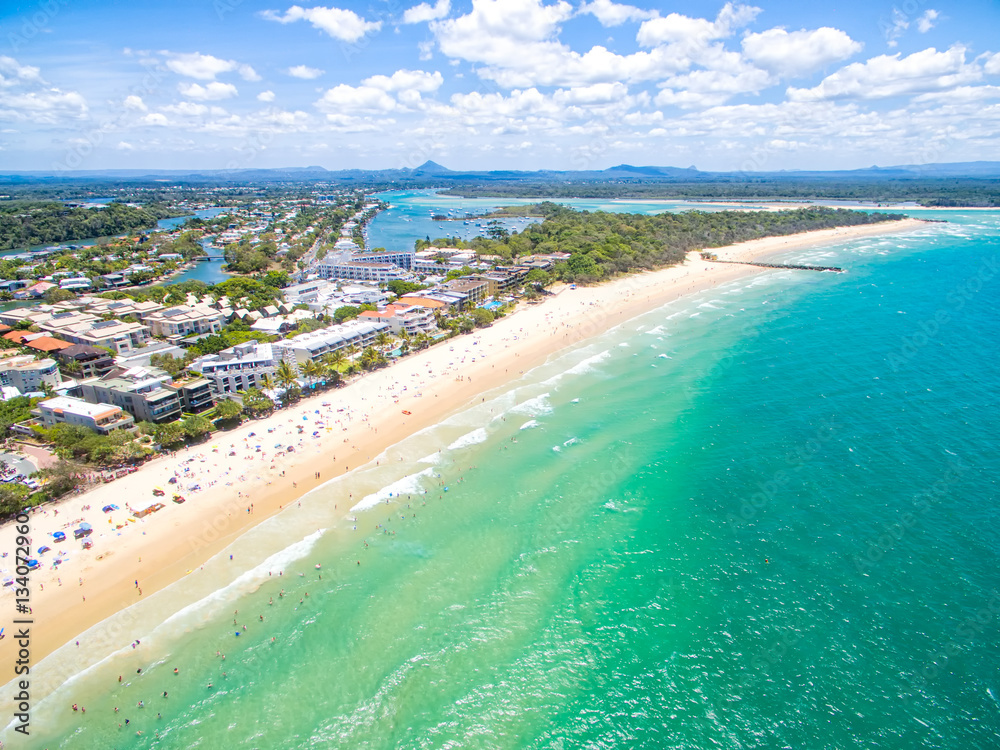 Fototapety, obrazy: An aerial view of Noosa National Park on Queensland's Sunshine Coast in Australia
