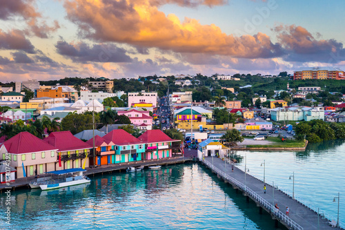 Photo Stands Caribbean St. Johns, Antigua and Barbuda.