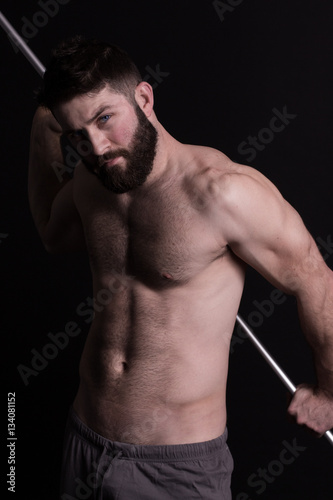 Homme Barbu Nu beautiful young man, bearded, sexy and muscular, beau jeune homme