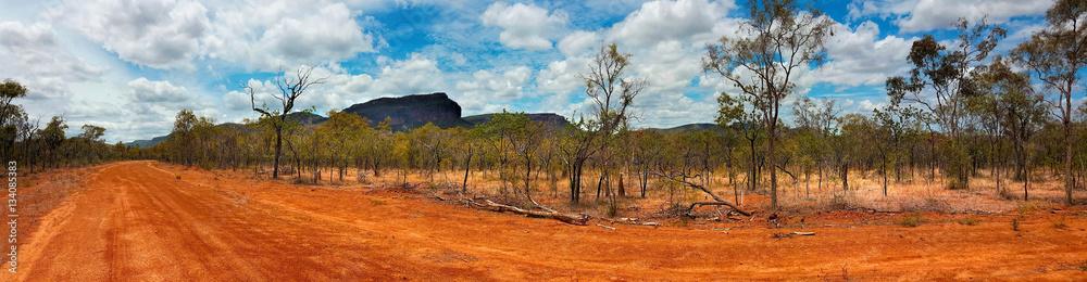 Fototapeta outback landscape Australia panarama view