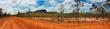 canvas print picture - outback landscape Australia panarama view
