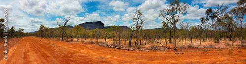 outback landscape Australia panarama view Wallpaper Mural