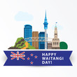 Happy Waitangi day, 6 February. New Zeland Auckland