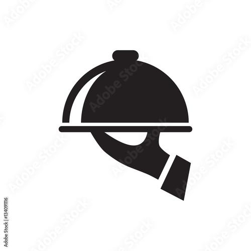 Fototapeta dish serving icon illustration obraz