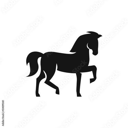 Photo  horse icon illustration