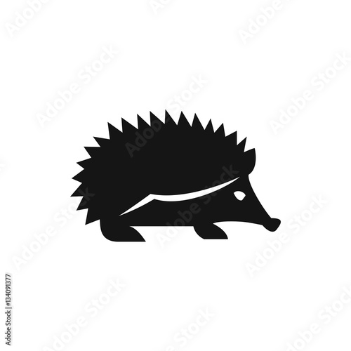 hedgehog icon illustration Poster Mural XXL