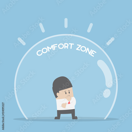 Fotografia Businessman standing in comfort zone